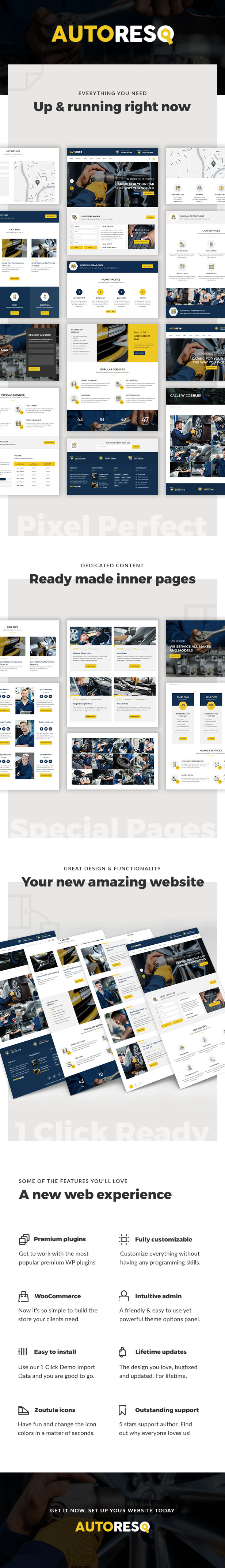 AutoResQ - Car Repair WordPress Theme
