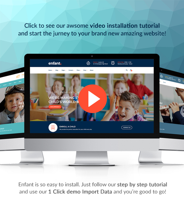 Enfant - School and Kindergarten WordPress Theme - 1 Enfant – School and Kindergarten WordPress Theme Nulled Free Download enfant video