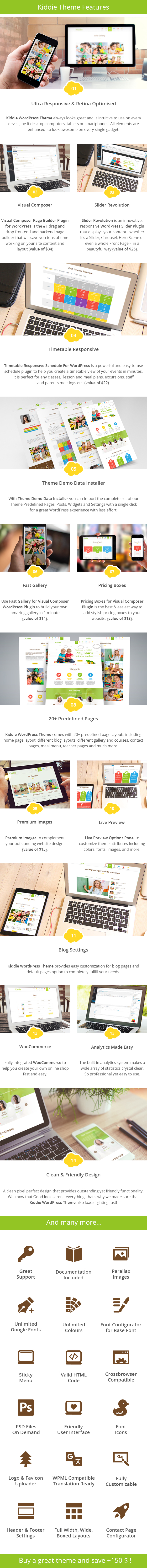 Kiddie - Kindergarten WordPress Theme